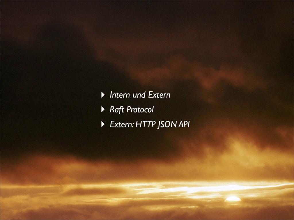 ‣ Intern und Extern ‣ Raft Protocol ‣ Extern: H...
