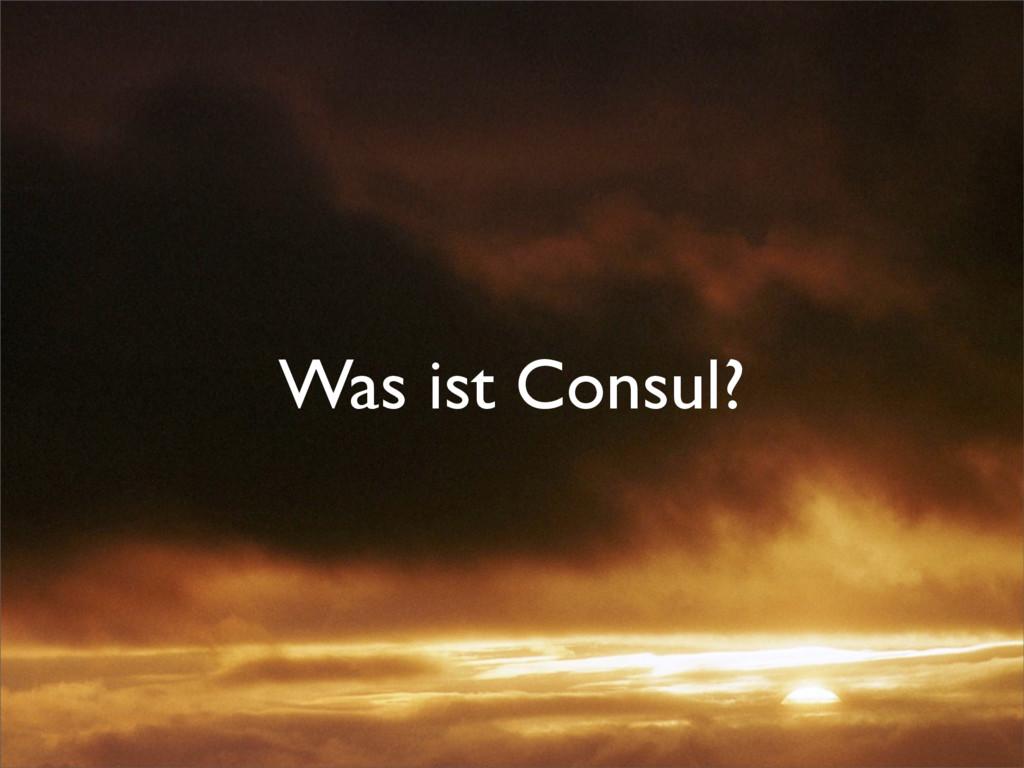 Was ist Consul?