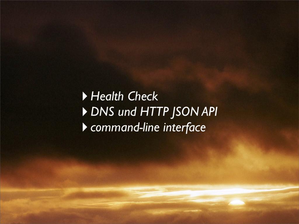 ‣Health Check ‣DNS und HTTP JSON API ‣command-l...