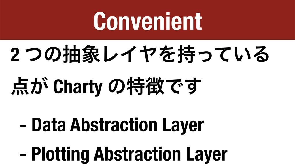Convenient 2 ͭͷநϨΠϠΛ͍ͬͯΔ ͕ Charty ͷಛͰ͢ - Da...