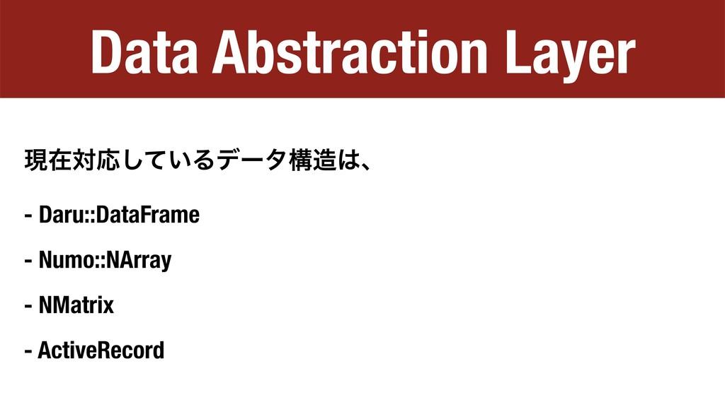 Data Abstraction Layer ݱࡏରԠ͍ͯ͠Δσʔλߏɺ - Daru::...