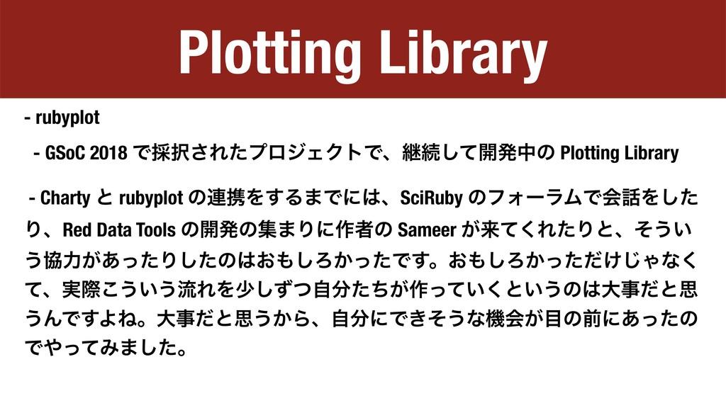Plotting Library - rubyplot - GSoC 2018 Ͱ࠾͞Εͨϓ...