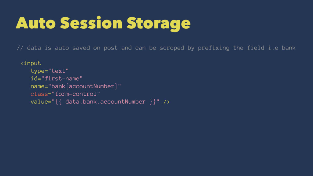 Auto Session Storage // data is auto saved on p...