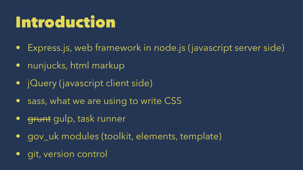 Introduction • Express.js, web framework in nod...
