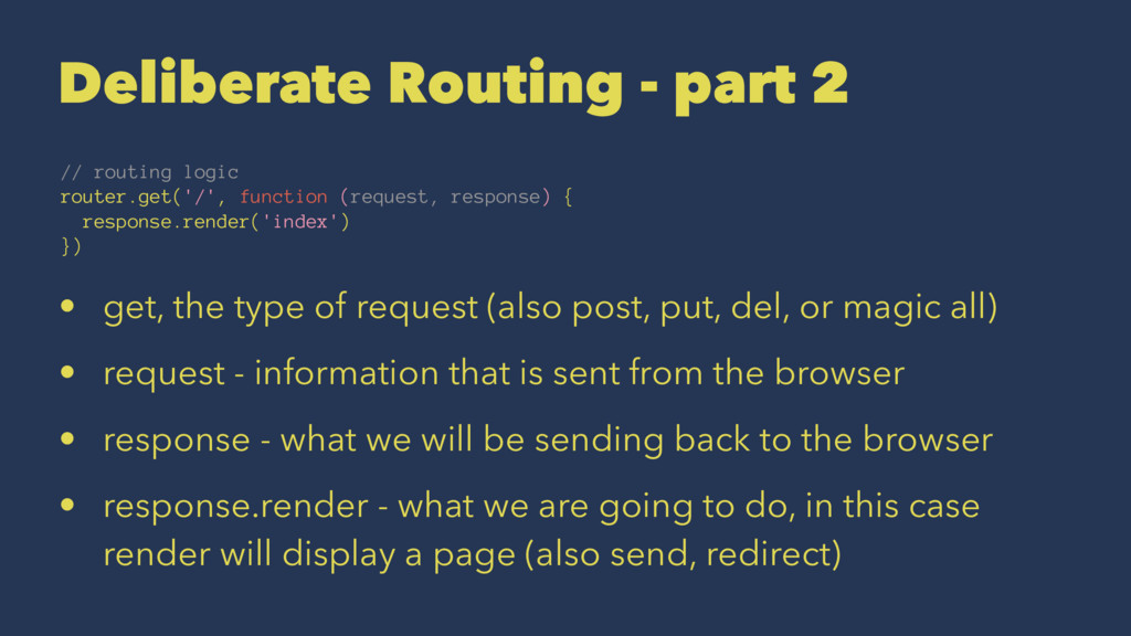 Deliberate Routing - part 2 // routing logic ro...