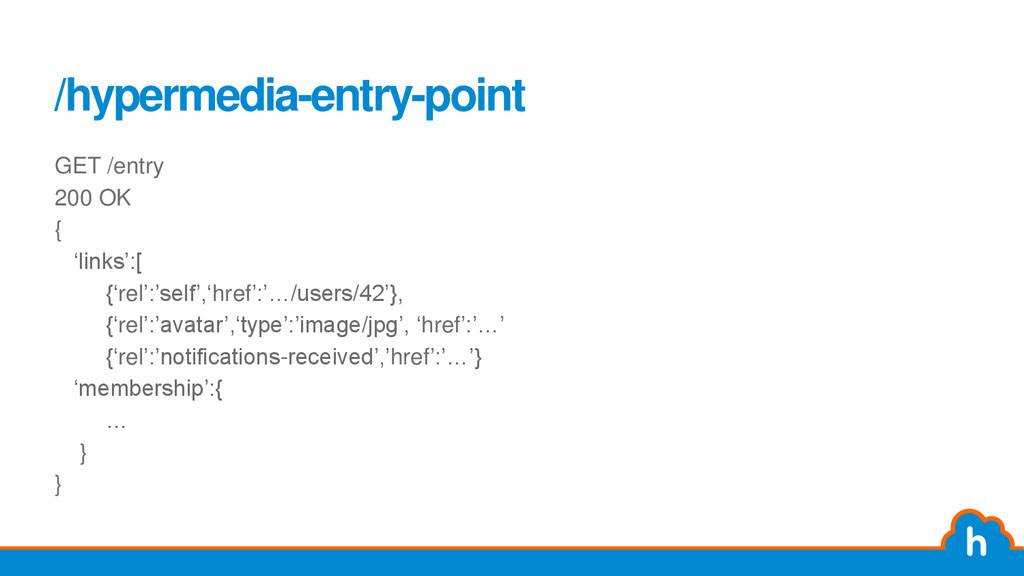"""/hypermedia-entry-point GET /entry 200 OK { """"li..."""