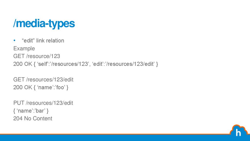 "/media-types • ""edit"" link relation Example GET..."