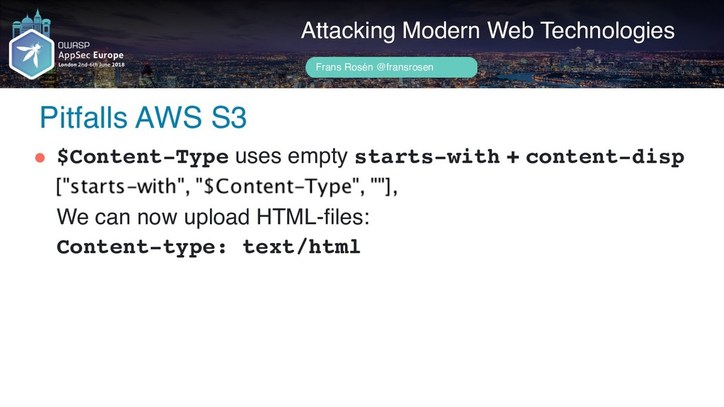 Author name her Pitfalls AWS S3 Attacking Moder...