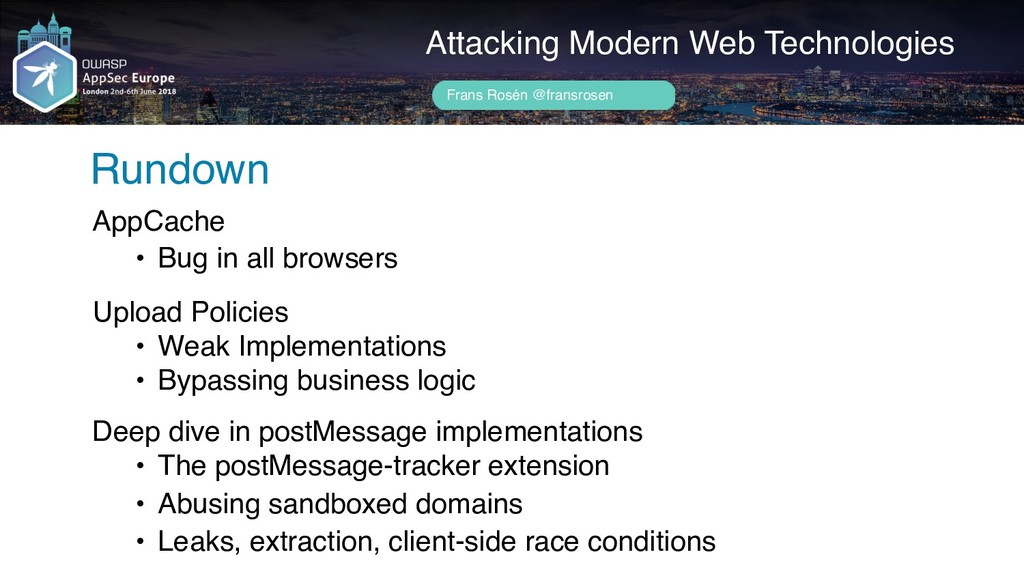 Attacking Modern Web Technologies Rundown AppCa...