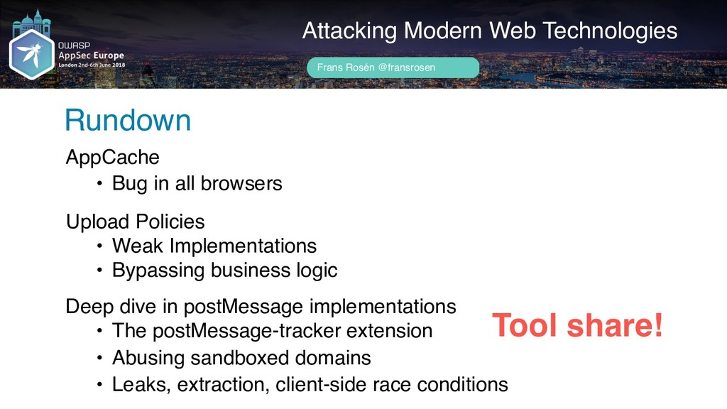 Attacking Modern Web Technologies Rundown Frans...