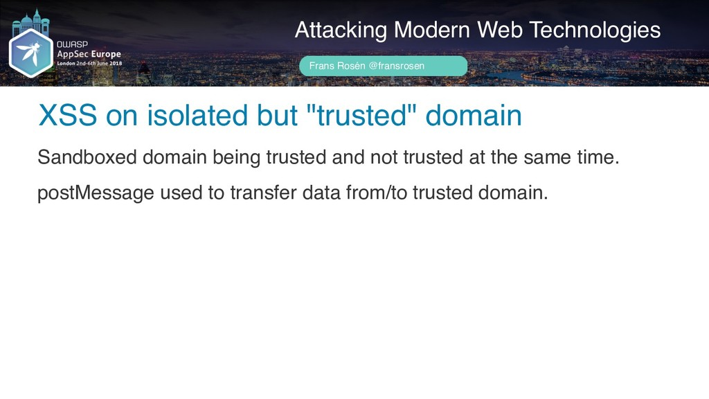 "Author name her XSS on isolated but ""trusted"" d..."