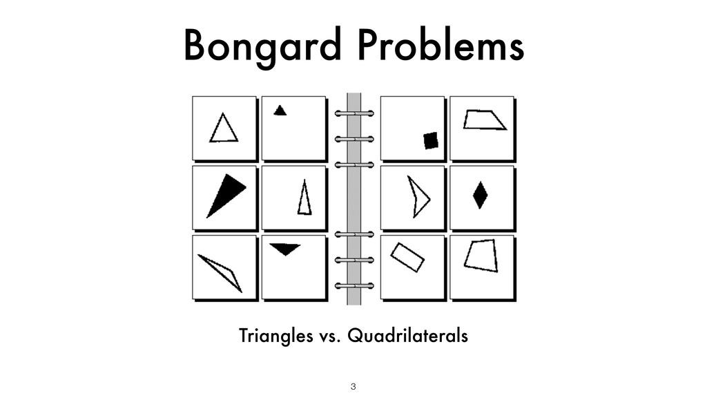 Bongard Problems 3 Triangles vs. Quadrilaterals
