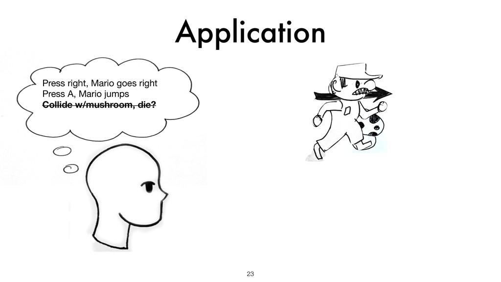 Application 23 Press right, Mario goes right  P...