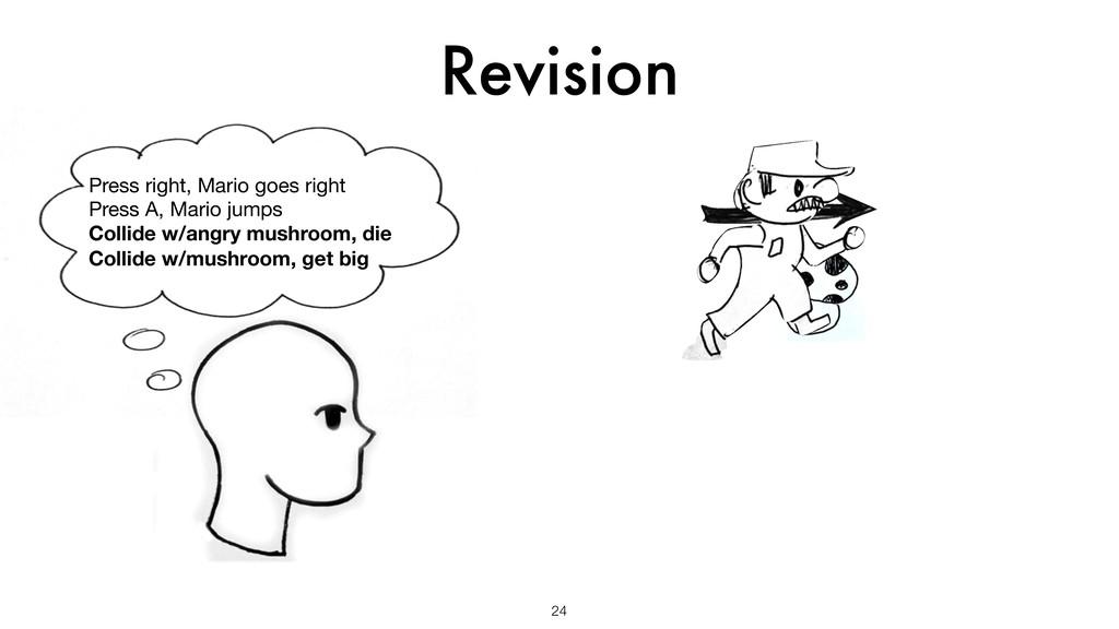 Revision 24 Press right, Mario goes right  Pres...