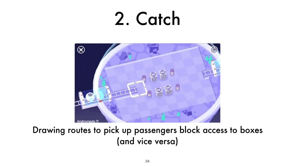 2. Catch 34 Drawing routes to pick up passenger...