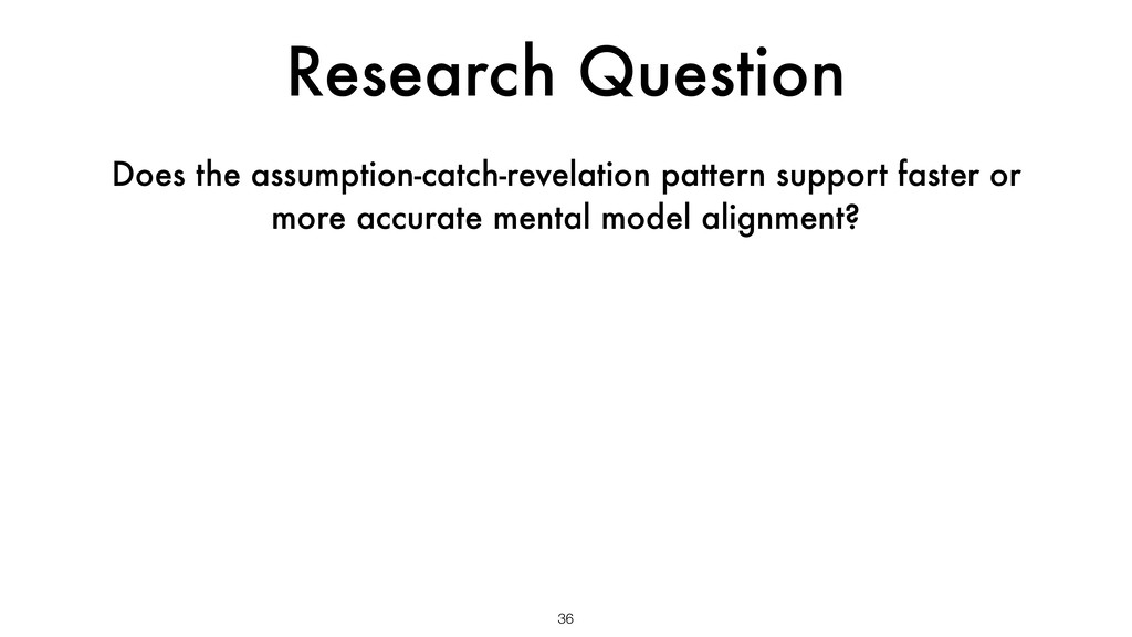 Research Question 36 Does the assumption-catch-...