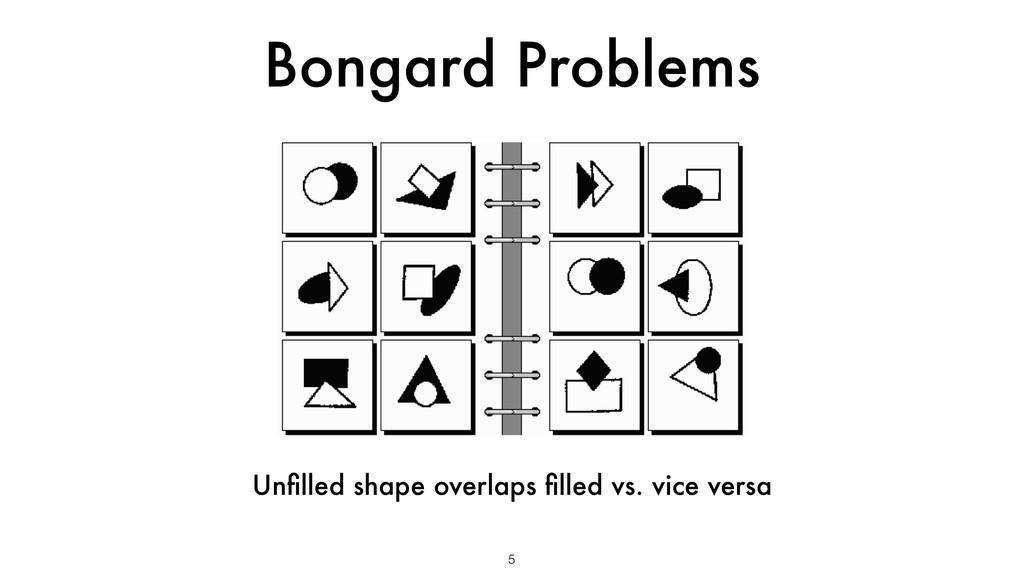 Bongard Problems 5 Unfilled shape overlaps filled...
