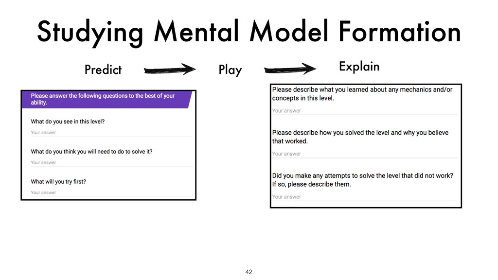 Studying Mental Model Formation 42 Predict Expl...
