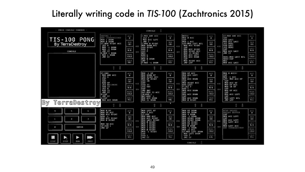 49 Literally writing code in TIS-100 (Zachtroni...