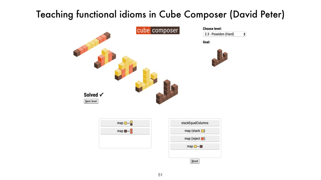 51 Teaching functional idioms in Cube Composer ...