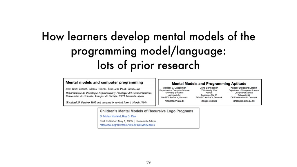 How learners develop mental models of the progr...