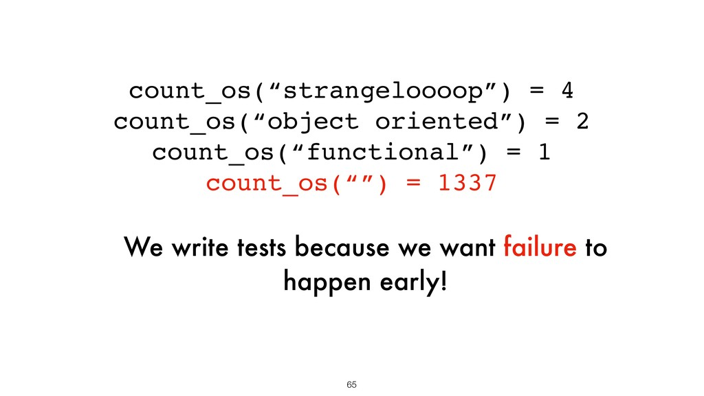 """count_os(""""strangeloooop"""") = 4 count_os(""""object ..."""