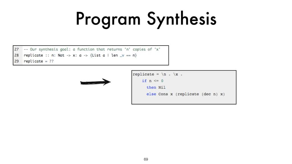 Program Synthesis 69