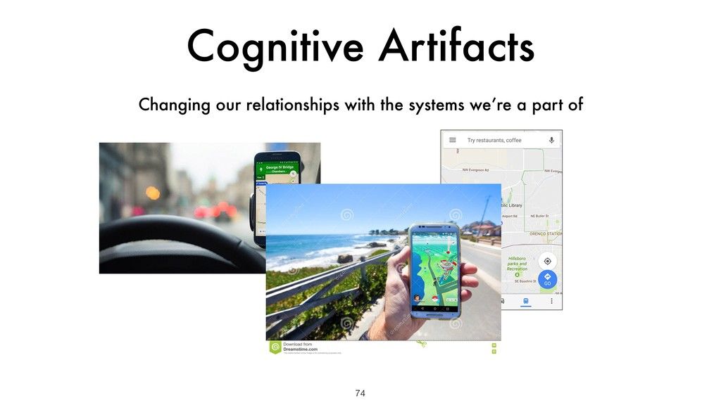 Cognitive Artifacts 74 Changing our relationshi...