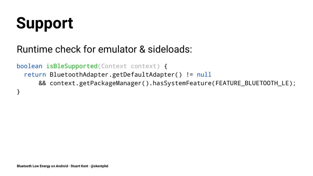 Support Runtime check for emulator & sideloads:...