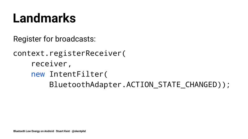 Landmarks Register for broadcasts: context.regi...