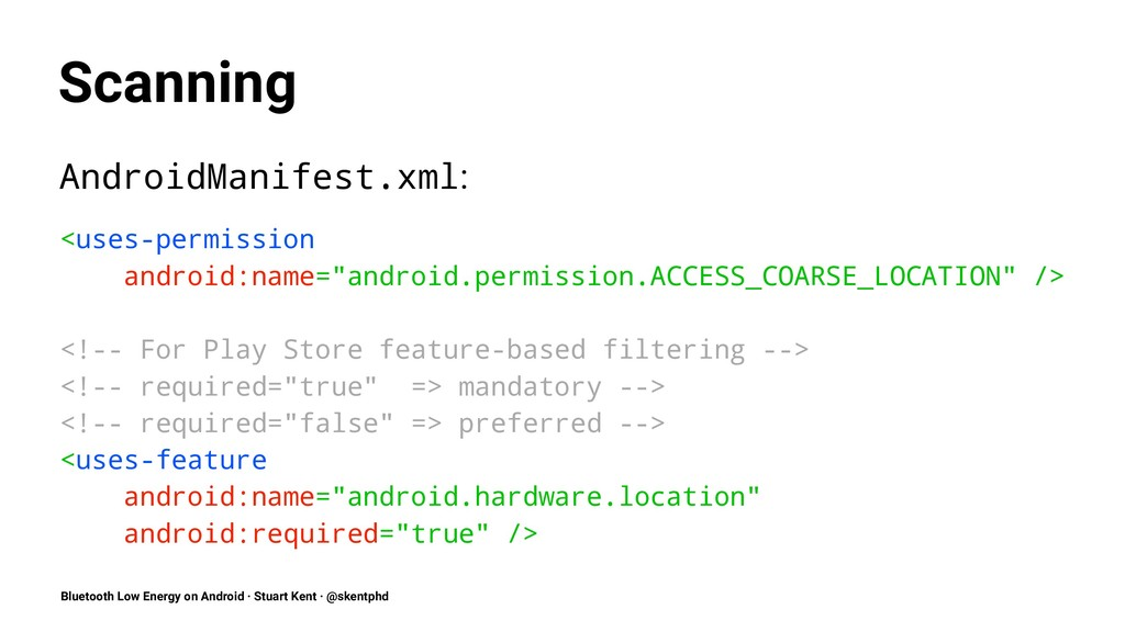 Scanning AndroidManifest.xml: <uses-permission ...