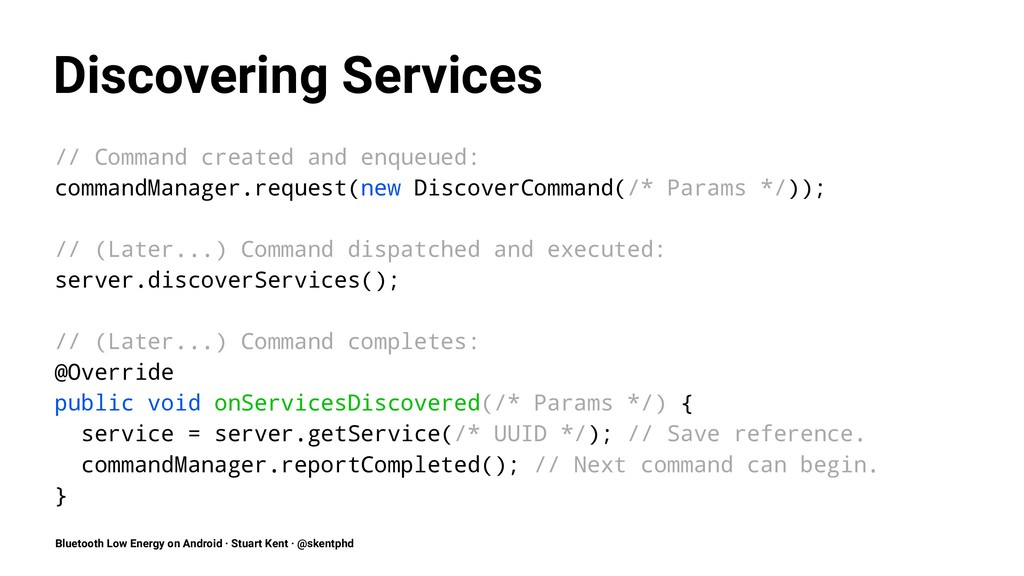 Discovering Services // Command created and enq...