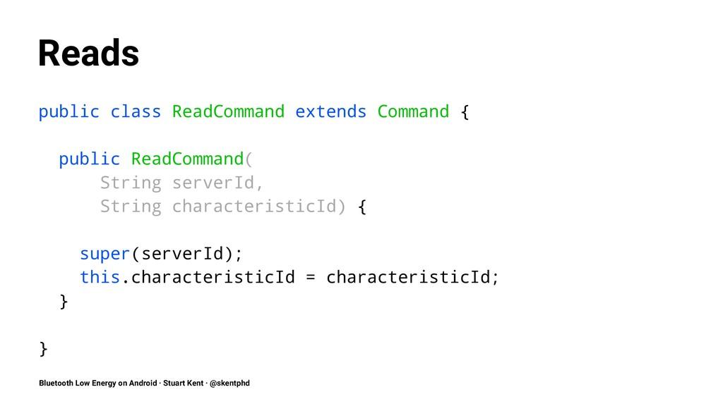 Reads public class ReadCommand extends Command ...