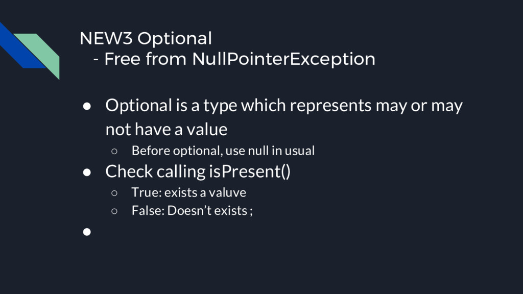 NEW3 Optional - Free from NullPointerException ...