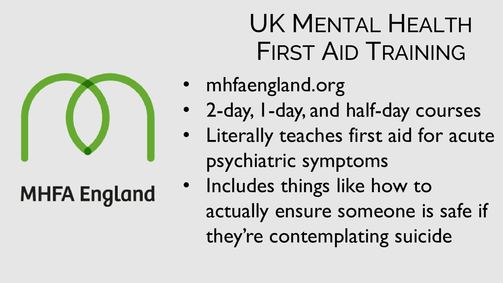 • mhfaengland.org • 2-day, 1-day, and half-day ...