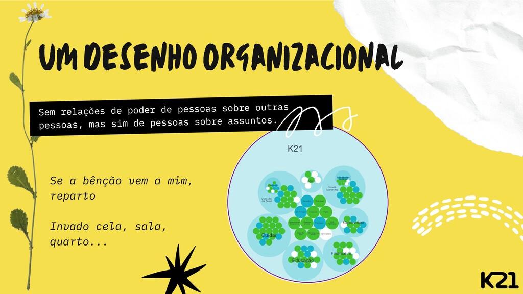 Um Desenho Organizacional Sem relações de poder...