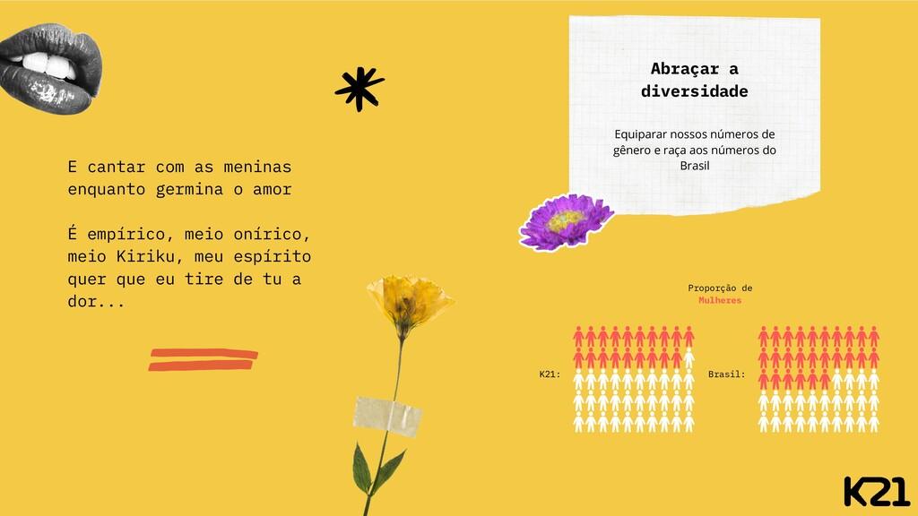 Abraçar a diversidade Equiparar nossos números ...