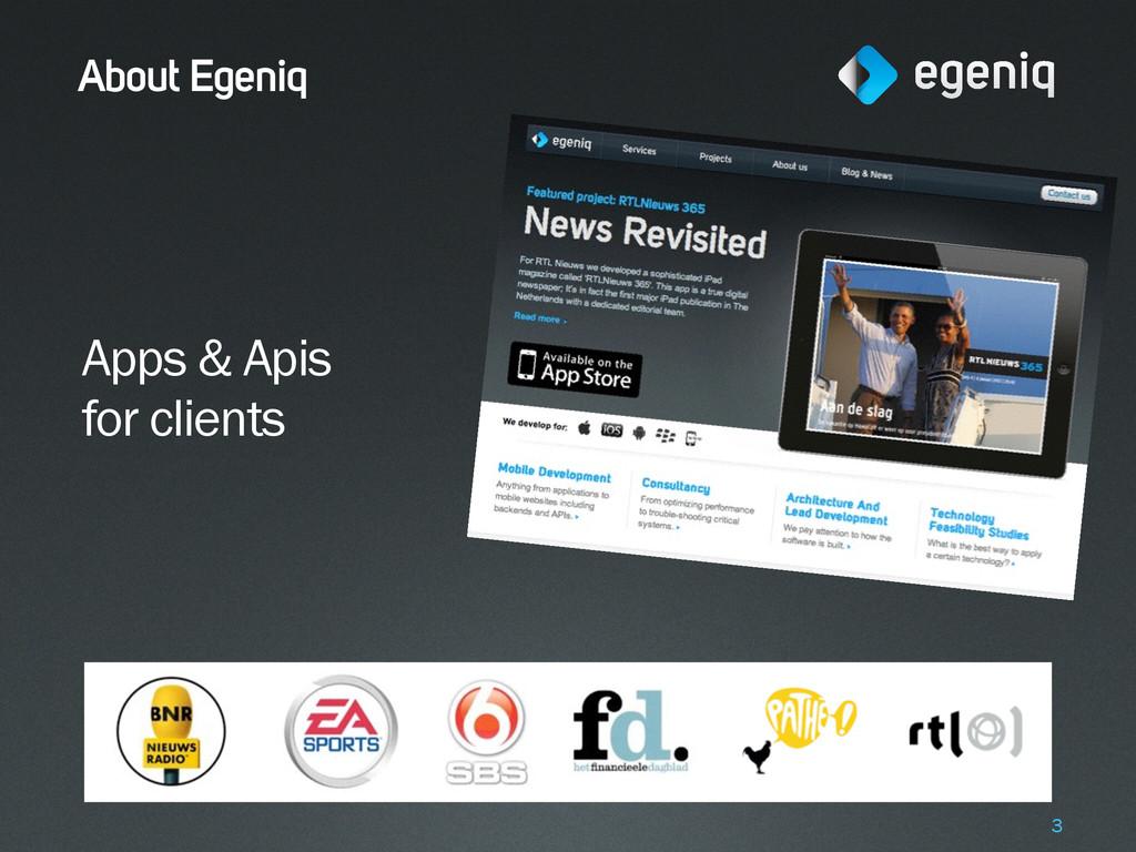 About Egeniq Apps & Apis for clients 3