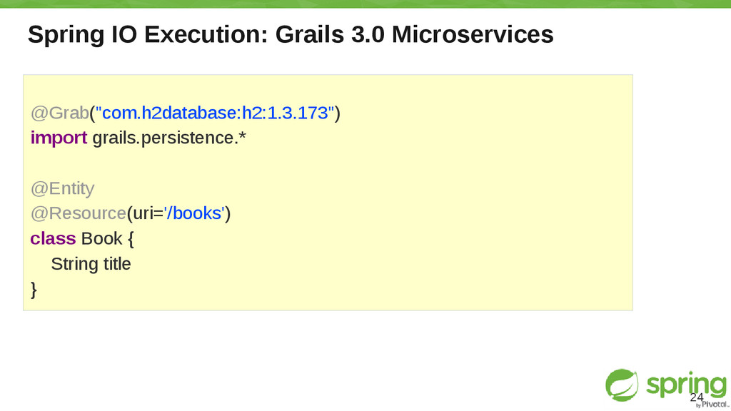 Spring IO Execution: Grails 3.0 Microservices 2...