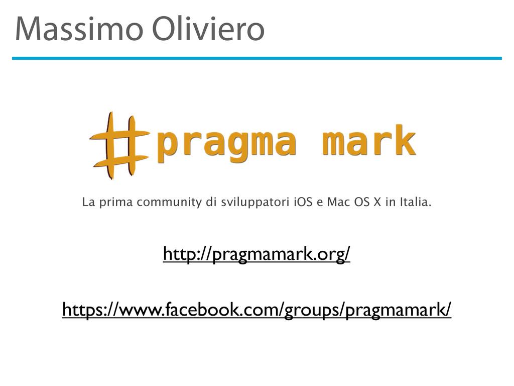 Massimo Oliviero http://pragmamark.org/ La prim...