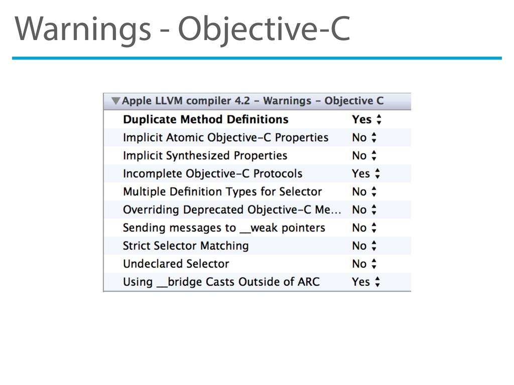 Warnings - Objective-C