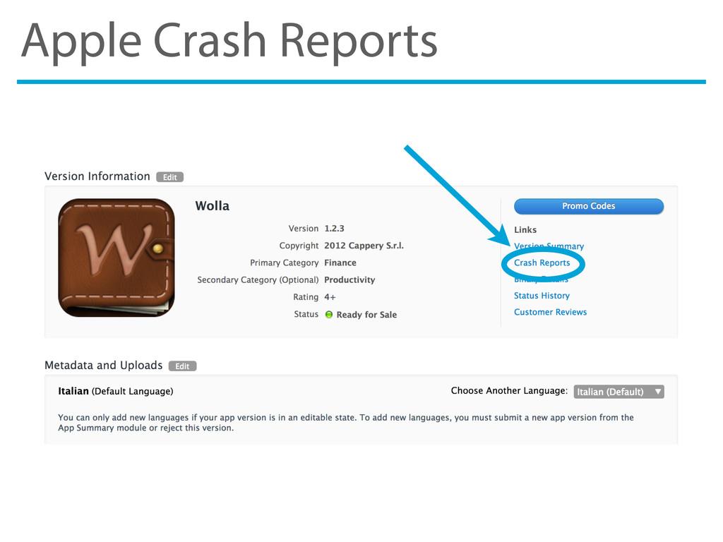 Apple Crash Reports