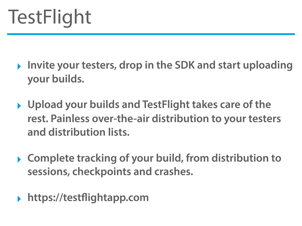 TestFlight ‣ Invite your testers, drop in the S...