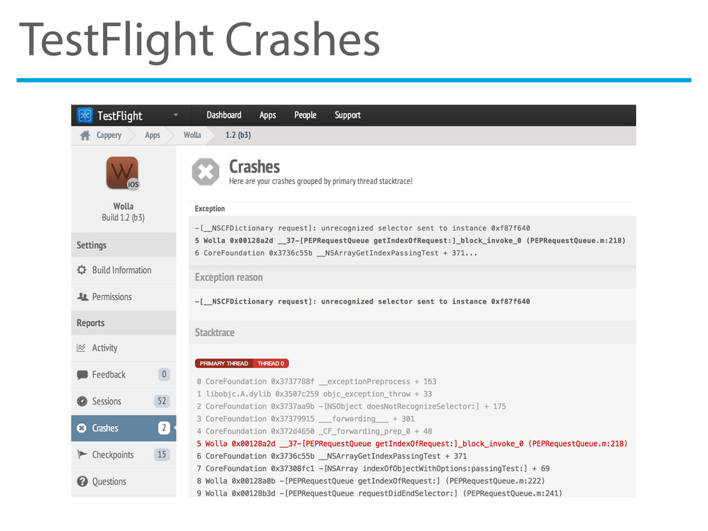 TestFlight Crashes