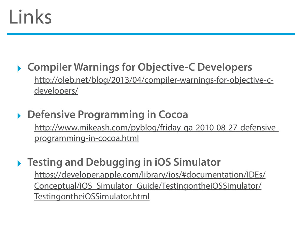 Links ‣ Compiler Warnings for Objective-C Devel...