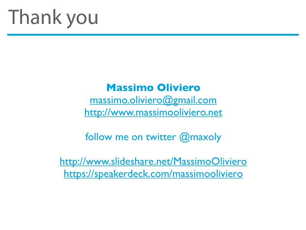 Thank you Massimo Oliviero massimo.oliviero@gma...