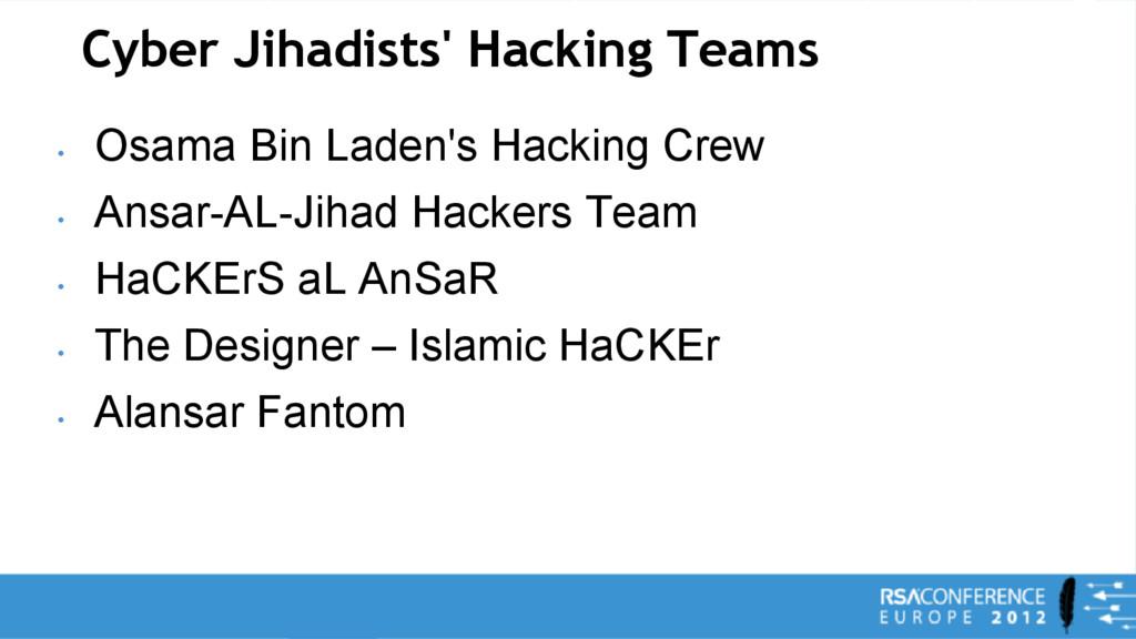 Cyber Jihadists' Hacking Teams • Osama Bin Lade...