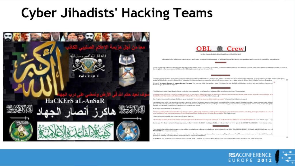 Cyber Jihadists' Hacking Teams