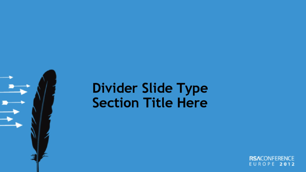 Divider Slide Type Section Title Here
