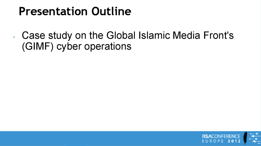 Presentation Outline • Case study on the Global...